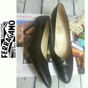 Salvatore Ferragamo brown Pump heels Leather upper